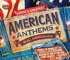 AMERICAN ANTHEMS LATEST & GREATEST 3 CD NEW+ JOHNNY CASH/JOE WALSH/BIG STAR