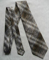 Vintage Tie Mens Wide Necktie Retro Fashion ANDRE JACQUES TEXTURED BROWNS