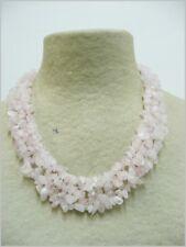 Cuarzo Rosa collar de minerales, Pink Quartz necklace 112