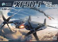 "Kitty Hawk 80135 1/48 XF5U-1 ""Flying Flapjack""  Assembly model New"