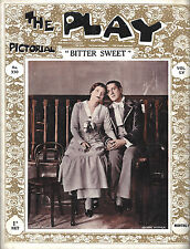 "Noel Coward's ""BITTER SWEET"" Peggy Wood / George Metaxa 1929 London Magazine"