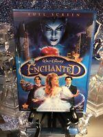 WALT DISNEY: Enchanted DVD Full Screen Rare Blue Case. Nice! See Pics Like New!