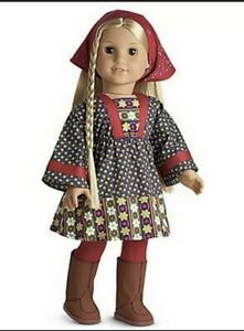 American Girl Julie's Calico Dress Boots Tights Retired NIB No Doll Included