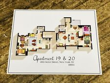 Friends TV Show Apartment Floorplan Art Print Poster Gift