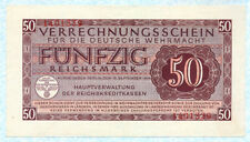 GERMANY Wehrmacht 50 Reichsmark 1944 M41 UNC