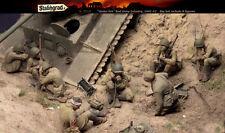Escala 1/35 Figura De Resina Kit Segunda Guerra Mundial infantería rusa bajo fuego, grandes figuras Conjunto de 8
