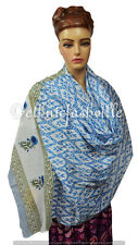 Indian Fashion Women Multi Use Long Block Print Cotton Scarf Wrap Sarong Shawl-0