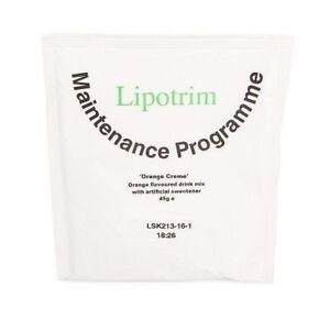 Lipotrim Maintenance Orange Creme drink: weight loss diet / weight maintenance