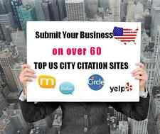 Over 60 US TOP CITY CITATION BUSINESS DIRECOTORIES SUBMISSION SERVICE