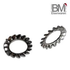 Fächerscheiben Zahnscheiben M2 bis M30 DIN6798 Form A außengezahnt Edelstahl A2
