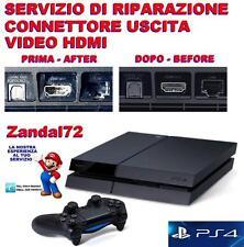 SERVIZIO DI RIPARAZIONE CONNETTORE VIDEO HDMI ROTTO PLAYSTATION 4 PS4 BROKEN