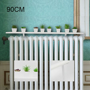 90cm White Radiator Cover Shelves Easy Fit MDF Wood Shelf Including Brackets