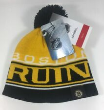 Boston Bruins Hockey NHL Youth OSFM Pom Beanie Cap Hat NWT