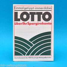 Lotto ü. Spargirokonto Sportfest-Toto 6 aus 49 Tele-Lotto 5 aus 35 | DDR 1980 B