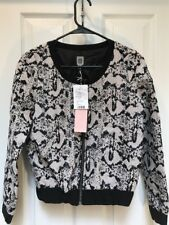NWT Urban Outfitters CO Womens Animal Print Moto Jacket XS