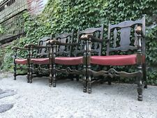 ANTIQUE VINTAGE VICTORIAN AMERICAN GOTHIC CARVED CHAIRS DINING ART DECO NOUVEAU
