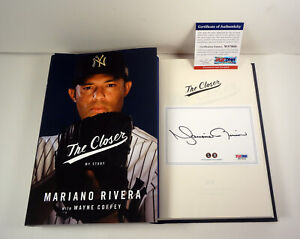 Mariano Rivera Signed Autograph The Closer 1st Edition HC Book PSA/DNA COA