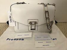 NWT Auth Proenza Schouler Hava Chain White Leather Shoulder Bag Handbag $1850