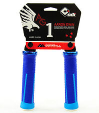 ODI AG-1 Aaron Gwin Signature Lock-On Mountain Bike / DH Bike Grips 135mm - Blue