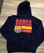 Barca Fcb Barcelona Hoodie Mens sz Small Football Soccer Good Shape!