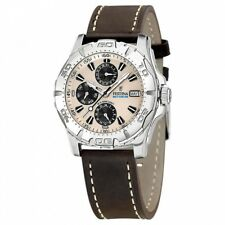 NEW Festina Herrenuhr F16243-2- Sport Multifunktionsuhr Leder Uhr Armbanduhr