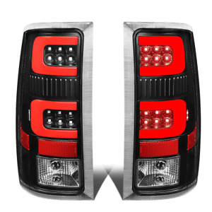 For 2007-2014 GMC Sierra 1500 2500 HD Red LED C-Tube Bar Tail Brake Light Lamps