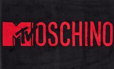 MOSCHINO x H&M 'MTV MOSCHINO' Jeremy Scott Bath Sheet Beach Towel Red 55x36 NWT!