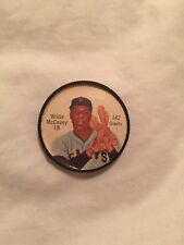 1962 SALADA WILLIE MCCOVEY COIN JUNKET GREAT SHAPE!!