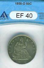 1858-O Seated Liberty Half Dollar : ANACS XF40