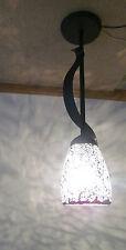 """18"""" Striking 12V RV BLACK Ribbon Pendant Mosaic Glass Ceiling Dinette Light Lamp"""