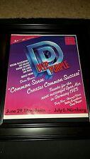 Deep Purple Germany Open Air Festival 1985 Rare Original Promo Poster Ad Framed!