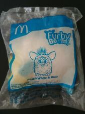 McDonald's Furby Boom Plush White Blue Happy Meal Toys 2014 Collectible