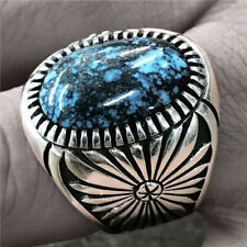 925 Silver Wholesale Handmade Turquoise Ring Women Men Vintage Jewelry Size 6-13