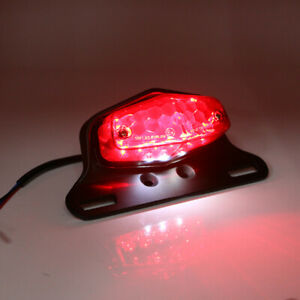 Retro Motorcycle Turn Signal Tail Light Fender Edge Brake License Plate Light