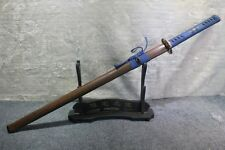 Japanese Blossom Kon-Iro T10 Clay Tempered Japanese Ninjato Ninja Chokuto Sword