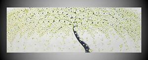 Acrylbild Abstrakt Bilder Leinwand handgemalt Kunst Malerei Gemälde Baum Blumen
