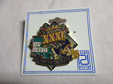 New Orleans Super Bowl Pin XXXI On Official Backing, January 26, 1997 Brand New