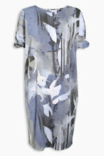 Next Blue Geometric Print Twist Sleeve Dress 20Tall
