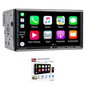 "Dual DMCPA79BT 7"" Double Din Touchscreen Bluetooth Apple Car Play Receiver"