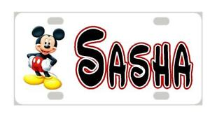 MICKEY MOUSE #2 MINI LICENSE PLATE Any Name Personalized Kids Bicycles Wagons