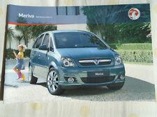 Vauxhall Meriva range brochure 2010 models Ed 2