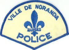 Ville de Noranda Police, Quebec, Canada HTF Vintage Uniform/Shoulder Patch