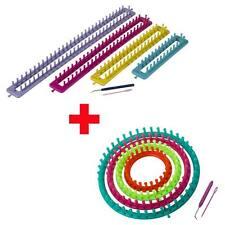 12 tlg. Strickring + Strickrahmen Set Strickliesel Knitting Loom mit Anleitung