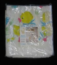 Vintage Beacon Baby Crib Blanket Acrylic Nylon Binding Downy Duckling Duck NOS