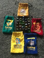 Collection of Pokemon Marbles and Bags