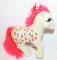 USED My Little Pony Twice As Fancy Sugarberry Hasbro G1 Vintage Strawberries