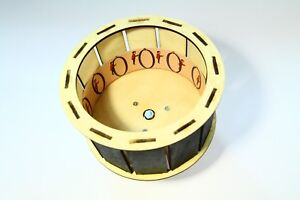 Finished Zoetrope with black parts for easier viewing. Wooden toy. Zootrope