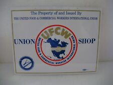 Ufcw Store Sign Barbers & Cosmetologists ( Union Shop ) New, Old Stock