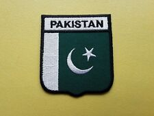 PAKISTAN COUNTRY SHIELD FLAG PATCH (SEW or IRON ON)