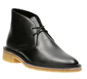 "Clarks ORIGINALS Ladies ""Friya Desert"" Black Leather Boot various sizes"